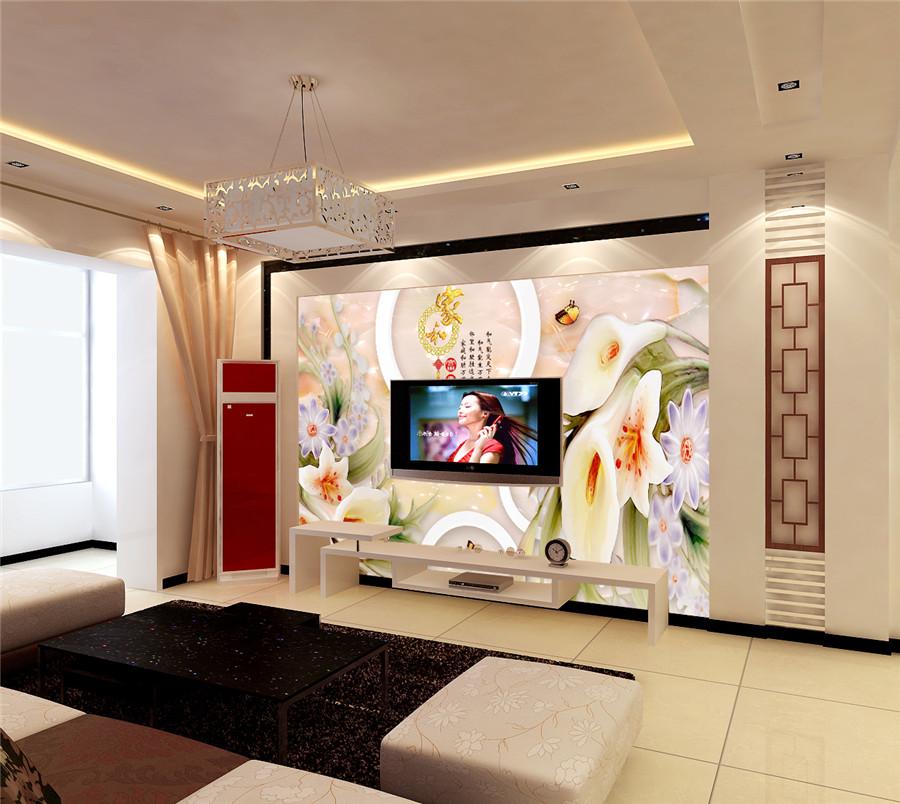 电视背景墙无缝墙布无框画高清装饰画沙发背景墙040