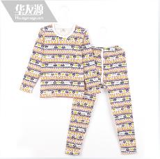 华友源秋季新款童装套装 男童女童套头款T恤打底儿童秋衣881116