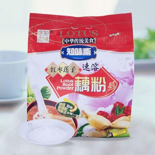 【3包包邮】知味斋红枣莲子藕粉