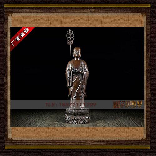 供应 地藏王站像铜像 品牌雕塑  厂家直销