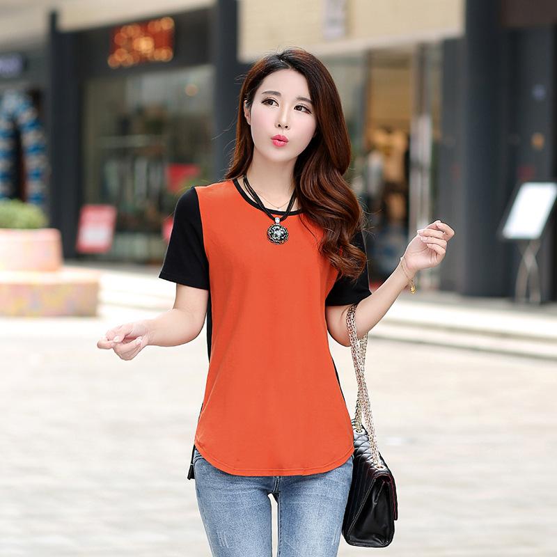 精选纯棉好货女装短袖中长款T恤女韩版宽松新款夏季女装上衣