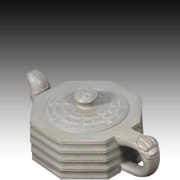 喀左紫砂-同泰紫砂-八卦壶- (单壶) 手工精制 300cc 段泥 正品保障 包邮