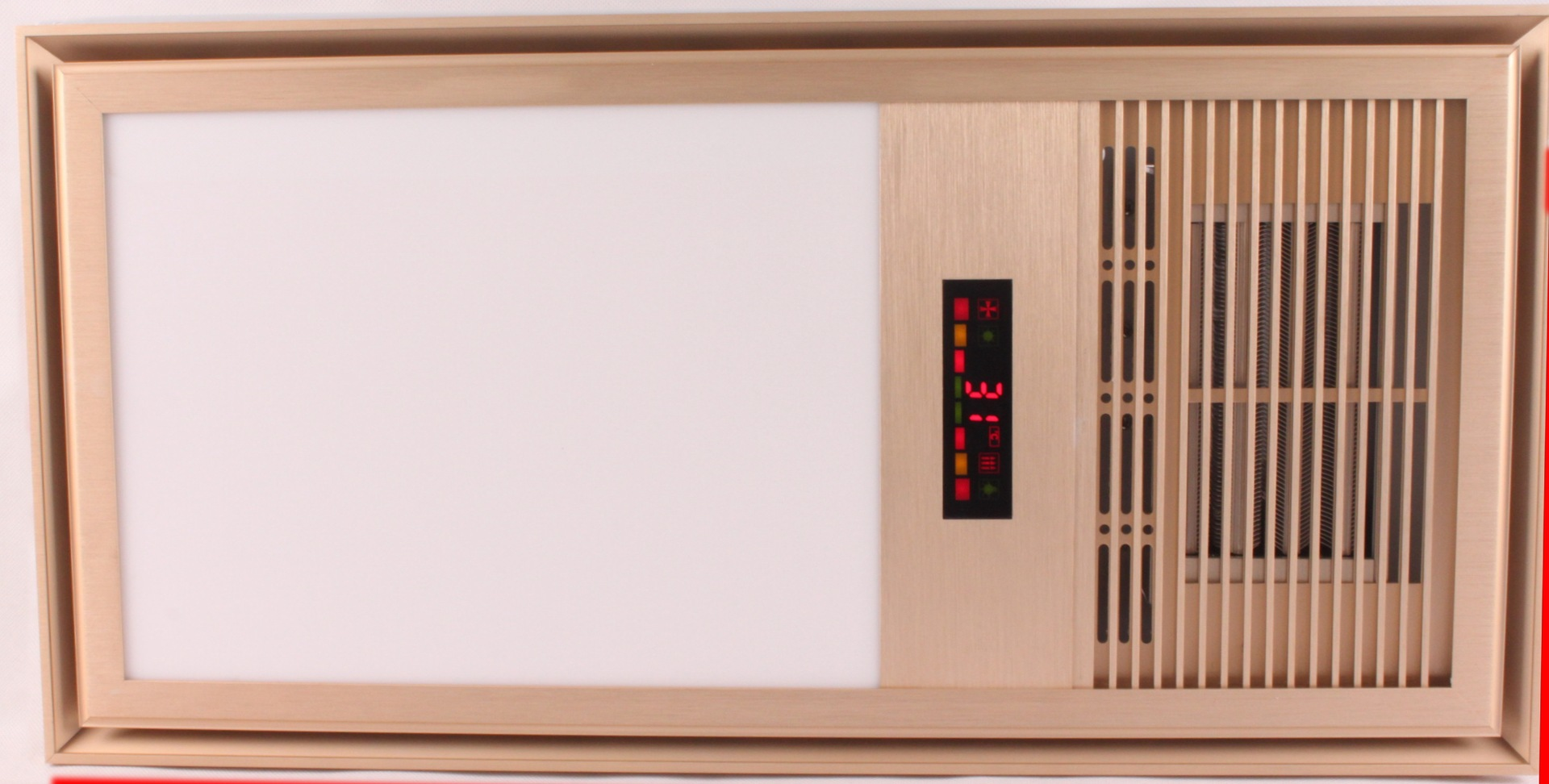 2014最新款 土豪金 超导LED 智能温度显示 超大功率 取暖照明换气