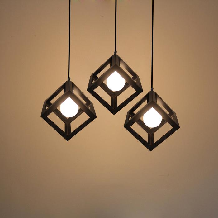 北欧创意西餐厅灯客厅loft个性灯具三头吧台过道吊灯铁艺工业吊灯