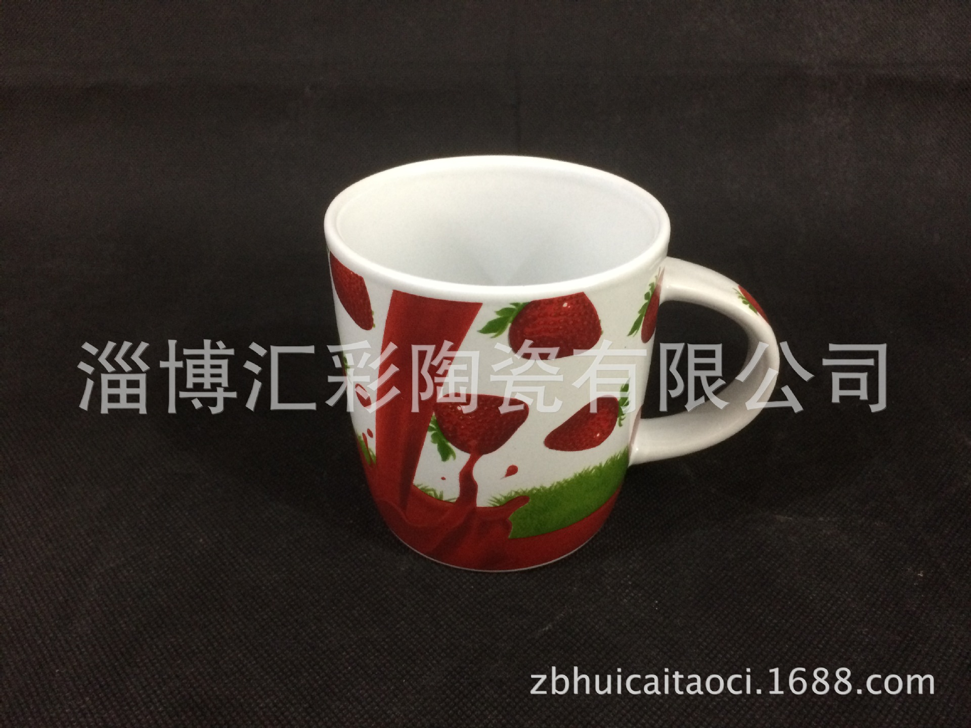 厂家定制水果图案陶瓷杯 外贸出口水果图案陶瓷杯 创意水果陶瓷杯