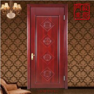 厂家定做 原木生产高端原木烤漆门|纯实木门