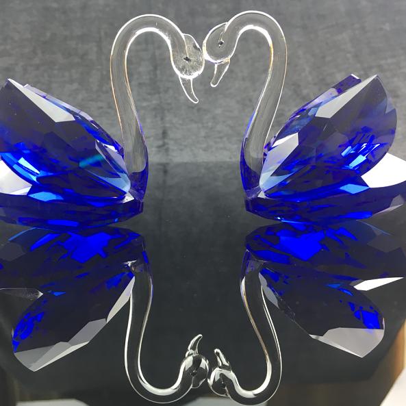 水晶定制加工品 浦江同源文化定制手工天鹅 美丽的蜕变
