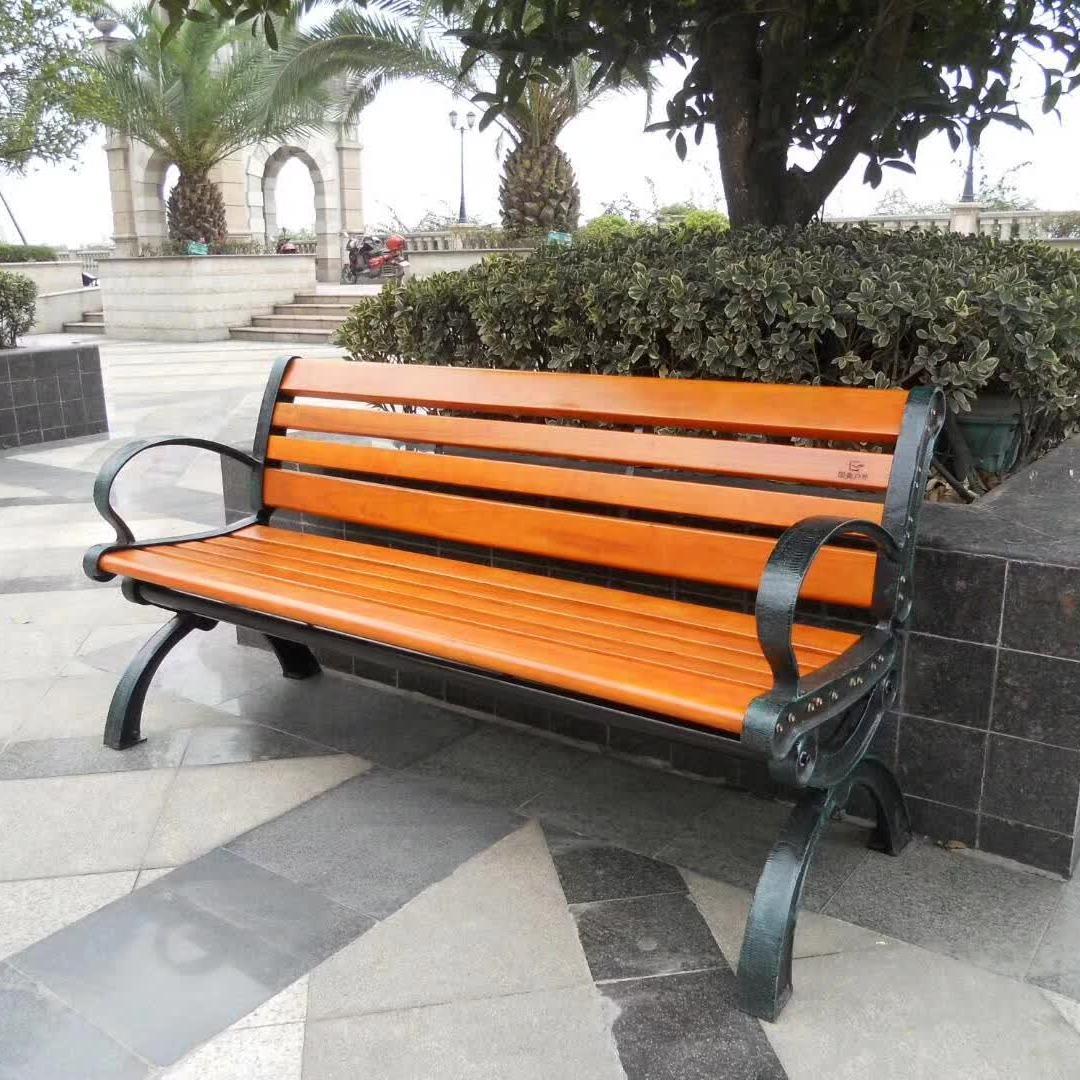 户外休闲椅低价批发 不锈钢公园休闲长条椅 不锈钢实木座凳