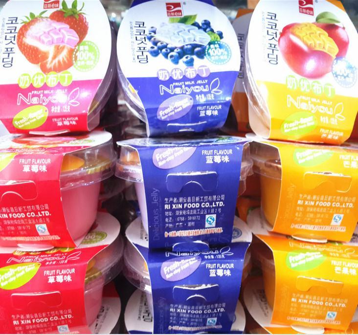 日新e妹奶优布丁100%美味果冻 135克