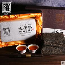 特惠包邮 湖南安化黑茶正品白沙溪金花茯砖茯茶 三年陈天茯茶