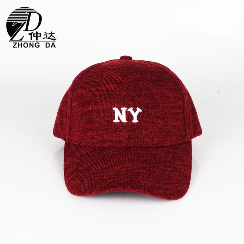 棒球帽厂家定制 秋冬男女鸭舌帽 针织面料遮阳帽 定做logo棒球帽