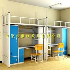 现货供应学生双层组合床学生双层公寓床学生公寓连体床厂家
