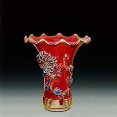 菊花尊--东方瓷辉古典传统精品摆件送礼结婚首选