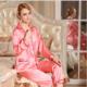 厂家直销2017春季新款男式真丝家居服 纯色睡衣两件套套装 睡衣