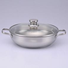 双耳欧式汤锅批发 304食品级不锈钢汤锅批发 外贸出口不锈钢汤锅批发
