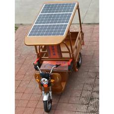 新能源电动车三块太阳能板