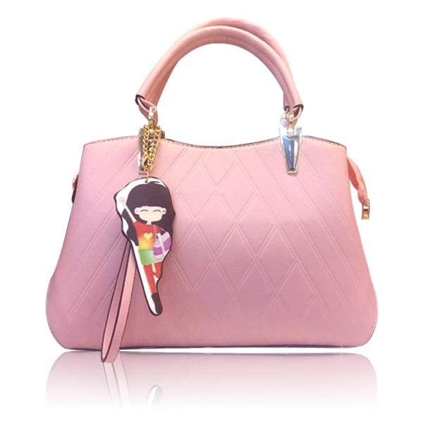 真皮女包新款时尚箱包女式箱包手提包斜挎包粉色
