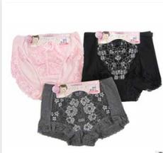 四方源服装 女式三角蕾丝内裤 纯棉舒适 工厂可供定制