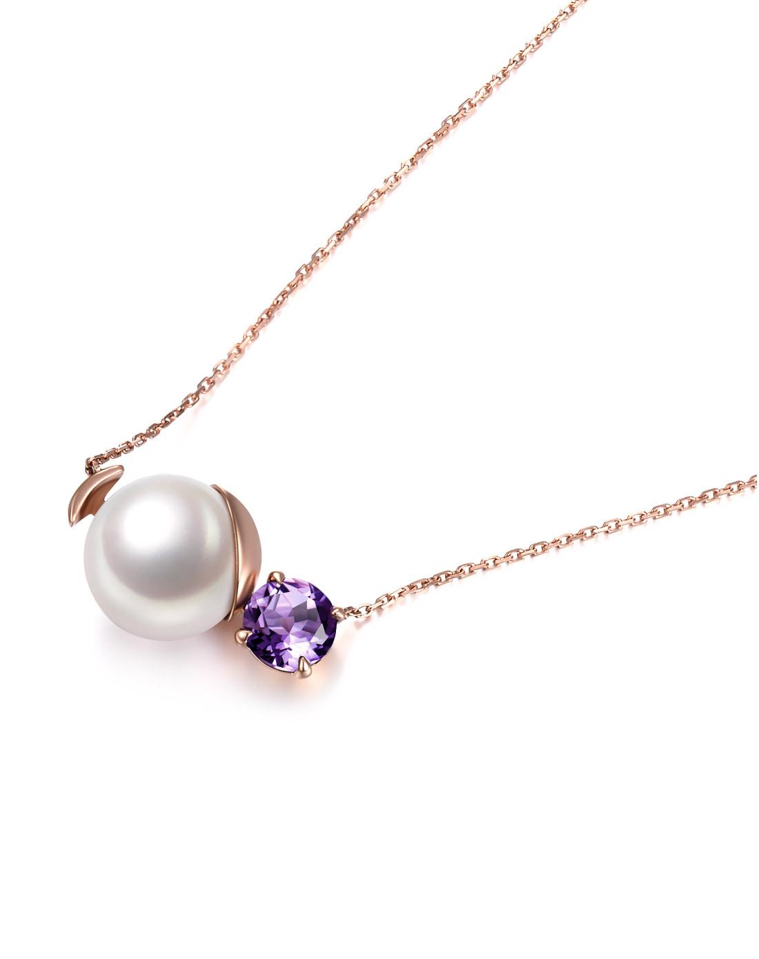 北海珍珠批发   北海淡水珍珠18K宝石珍珠项链时尚项链