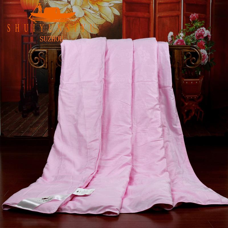 儿童专用蚕丝被更柔软100%夏凉蚕丝被全棉斜纹面料空调蚕丝被定做