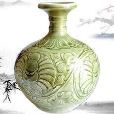 供应耀州瓷蒜头瓶