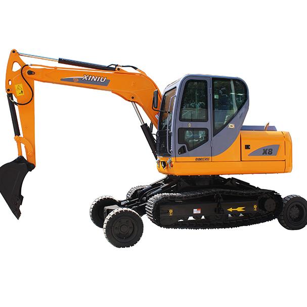 血色��f�yK^�xnX�_犀牛重工xnx8小型轮式履带挖掘机 转场方便 性价比高