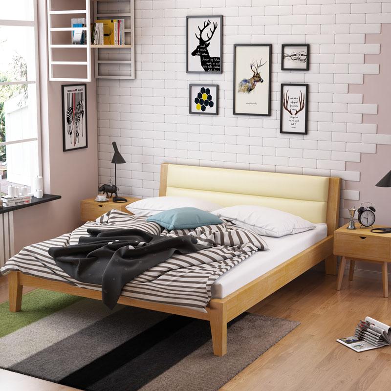 现代简约北欧风格床实木床1.8米主卧双人床 xdjy系列 xdjy—12图片