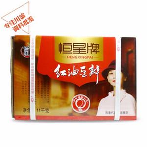 四川郫县恒星豆瓣 红油豆瓣酱11Kg 麻辣爽口调味酱 厨房餐饮专用