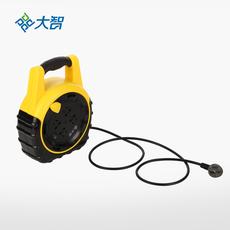 大智五重防护10米线圈高温阻燃材料绕线插座 *新国标用电保护插排插线板