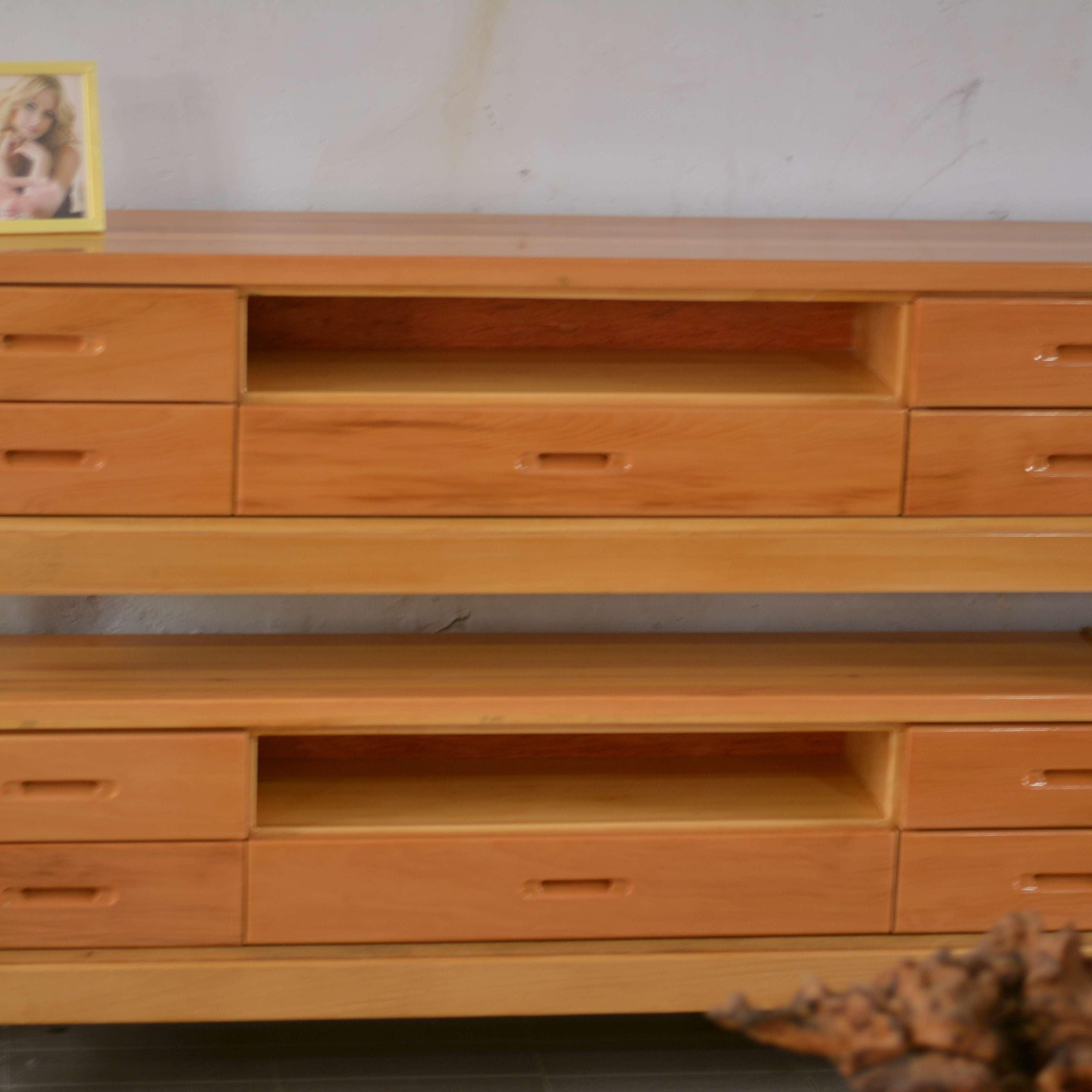王家实木家具 红松木纯实木手工打造 实木家俱电视柜 实木家具超低价格 厂家直销