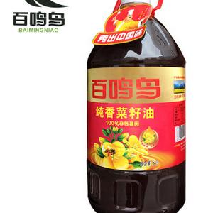 厂家直供 非转基因 纯香5升 百鸣鸟菜籽油
