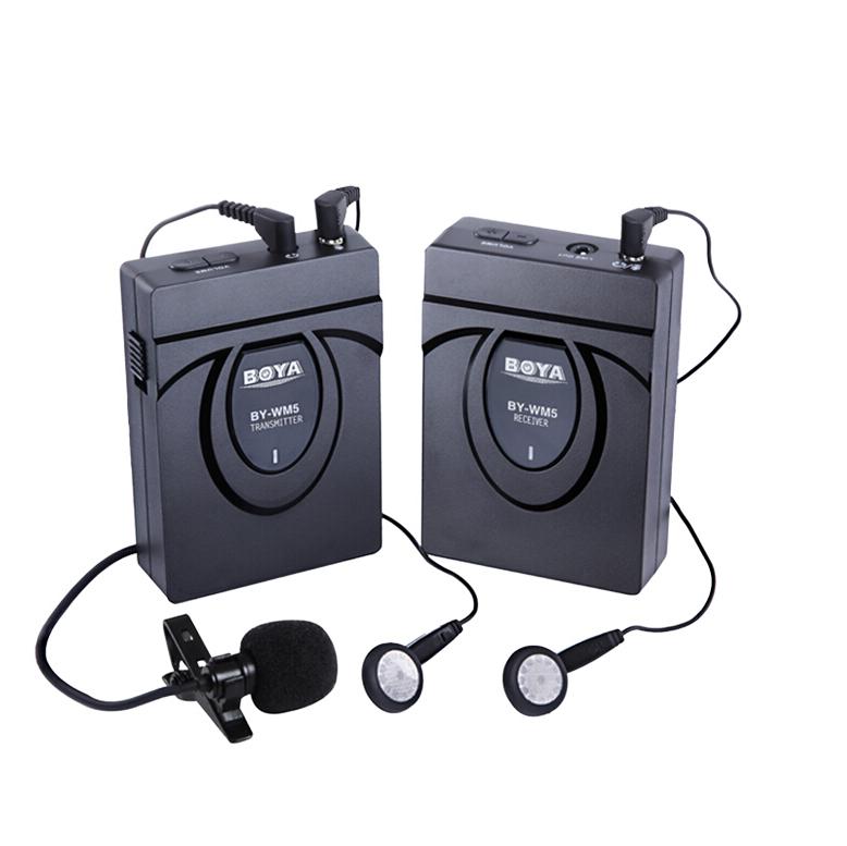 博雅 BOYA BY-WM5 摄像机单反相机无线麦克风领夹式采访话筒胸麦