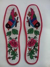 陕北安塞特精品耐磨绣花鞋垫 纯手工 39--43码 造型美观,绣工精致