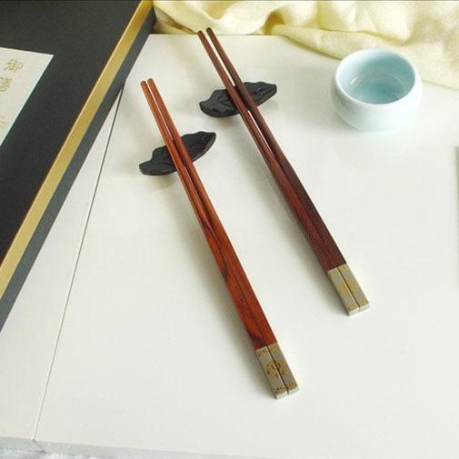 筷子 日式木筷子 简约木筷 正品原单双喜筷 酸枝木筷