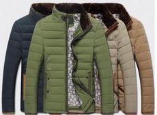 爆款冬装外套男式羽绒服加厚中年商务男士羽绒服立领批发