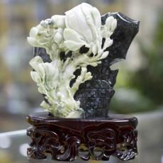 正品 正宗 独山玉雕 雕刻兰花型摆件 零售