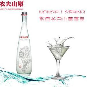 直销批发农夫山泉玻璃瓶高端无气天然矿泉水350ml24瓶
