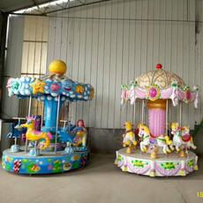 电玩游乐设备儿童游艺机6座转马 郑州隆生游乐宫廷旋转木马