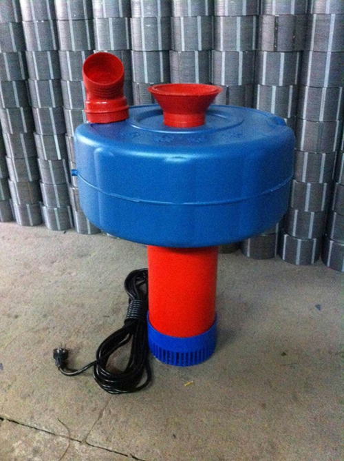单三相3寸4寸口径新型鱼池塘增氧排灌两用浮水泵喷涌喷水式增氧机