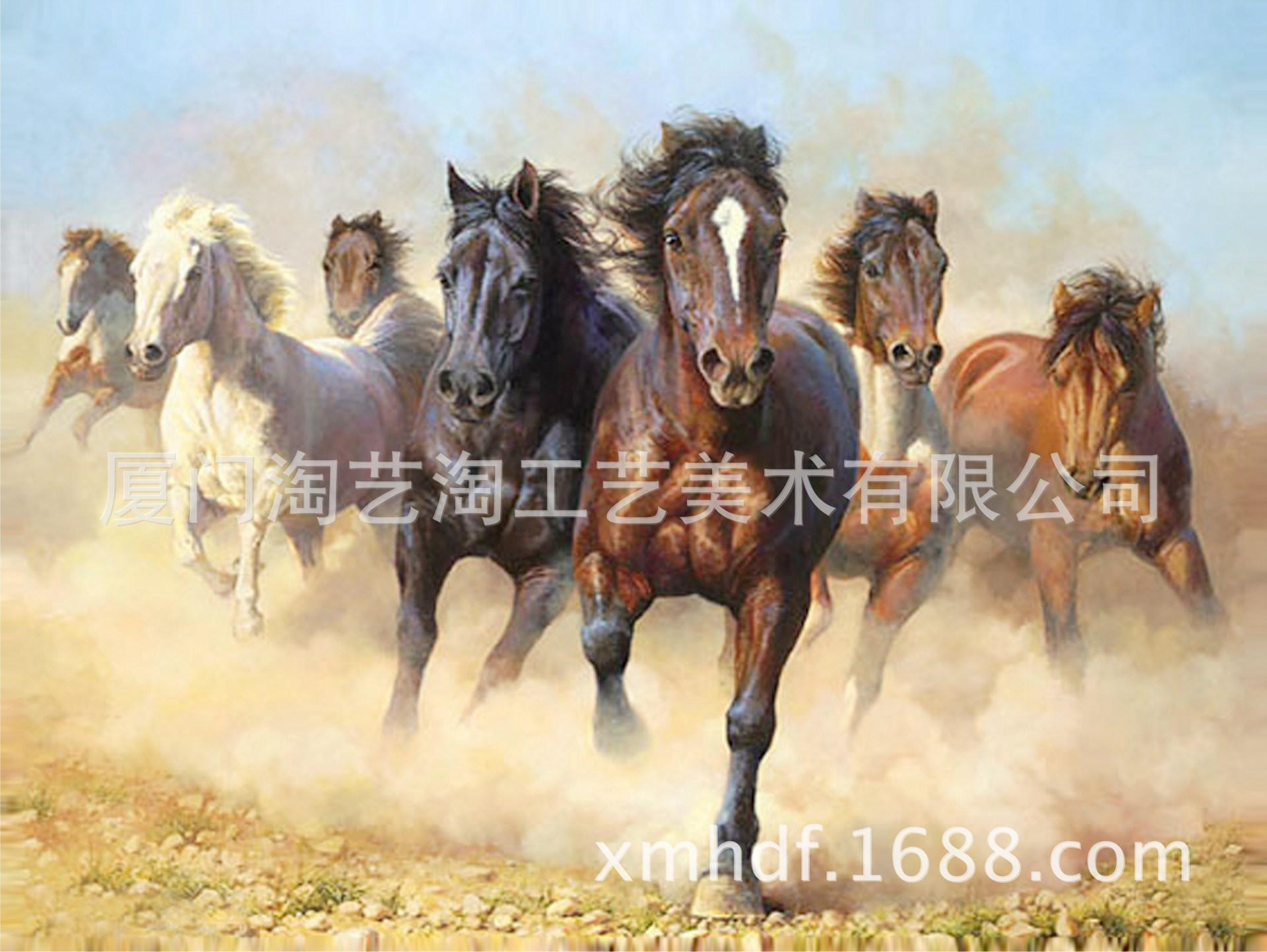 中国风景油画壁画 3d手绘油画