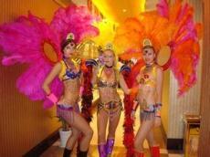 山东济宁外籍模特,人体彩绘模特,激光舞表演