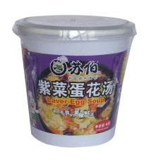 苏伯 杯装 紫菜蛋花汤 8克 即食 速食 苏伯汤