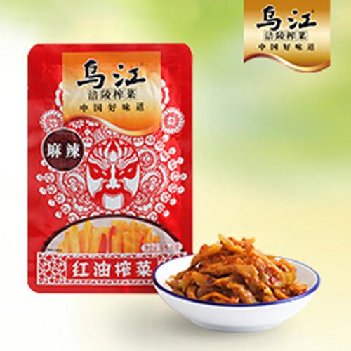 乌江榨菜系列红油榨菜  80g 100袋一箱
