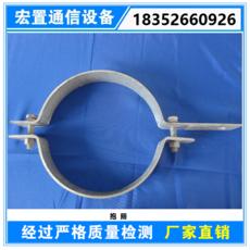 ADSS光缆杆用抱箍 杆用挂点金具 卡箍喉箍