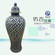 雅缶牌陶瓷 大埔厂家直销 手绘青花16寸细身将军坛(160801