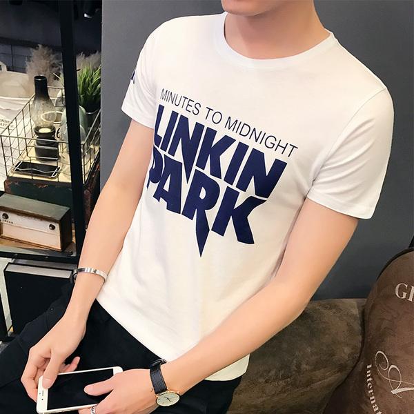 供应2017年最新款夏装男士圆领修身林肯夏季青少年韩版半袖打底上衣服男装