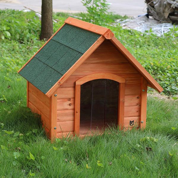 别墅直销户外实木狗屋犬舍防雨室外小型中型犬别墅犬屋厂家。艺术家乡下图片