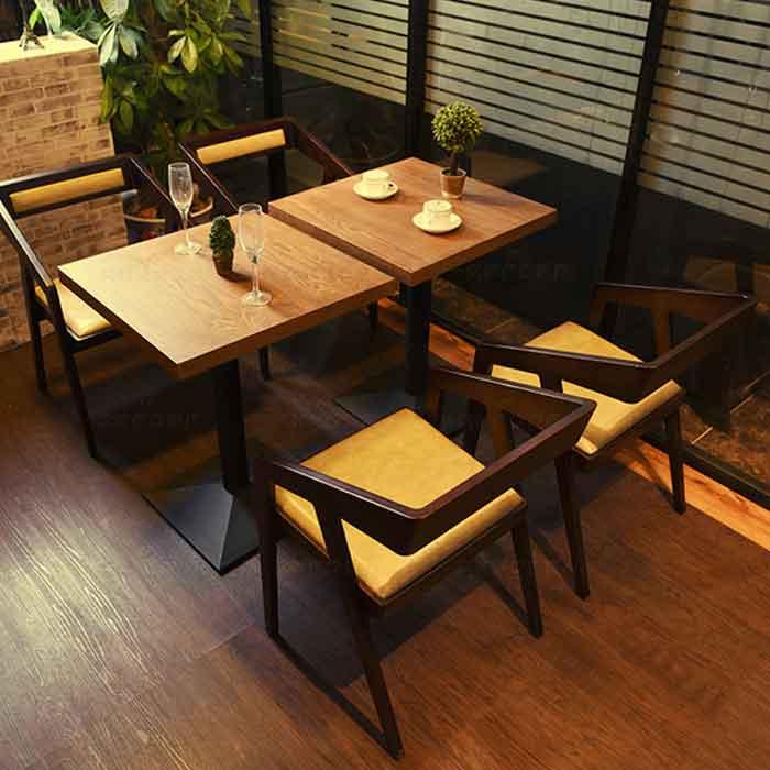 美式实木桌子 新中式餐椅桌椅 咖啡厅酒店餐桌批发图片