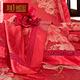 辑里奢华婚庆真丝色织四件套100桑蚕丝A版25姆米B版19姆米可定制