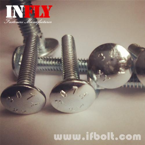 美制马车螺栓A307A马车螺丝2级热镀锌马车螺栓-英菲螺丝厂